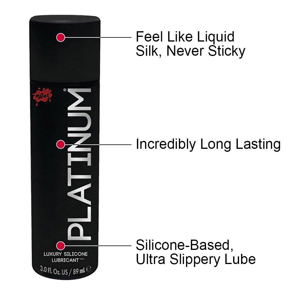 Wet Platinum Premium Silicone Personal Lubricant 3.1 Fl.Oz 90 mL - View #1