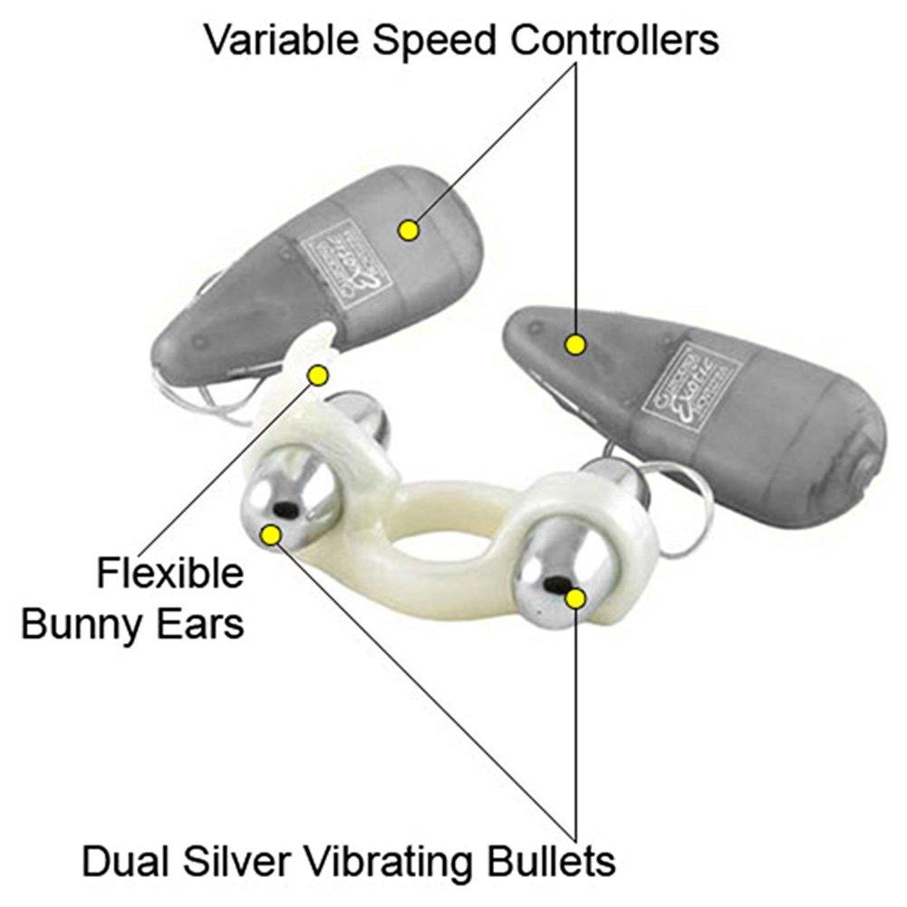 California Exotics Rockin Rabbit Dual Vibrating Ring Clear - View #1