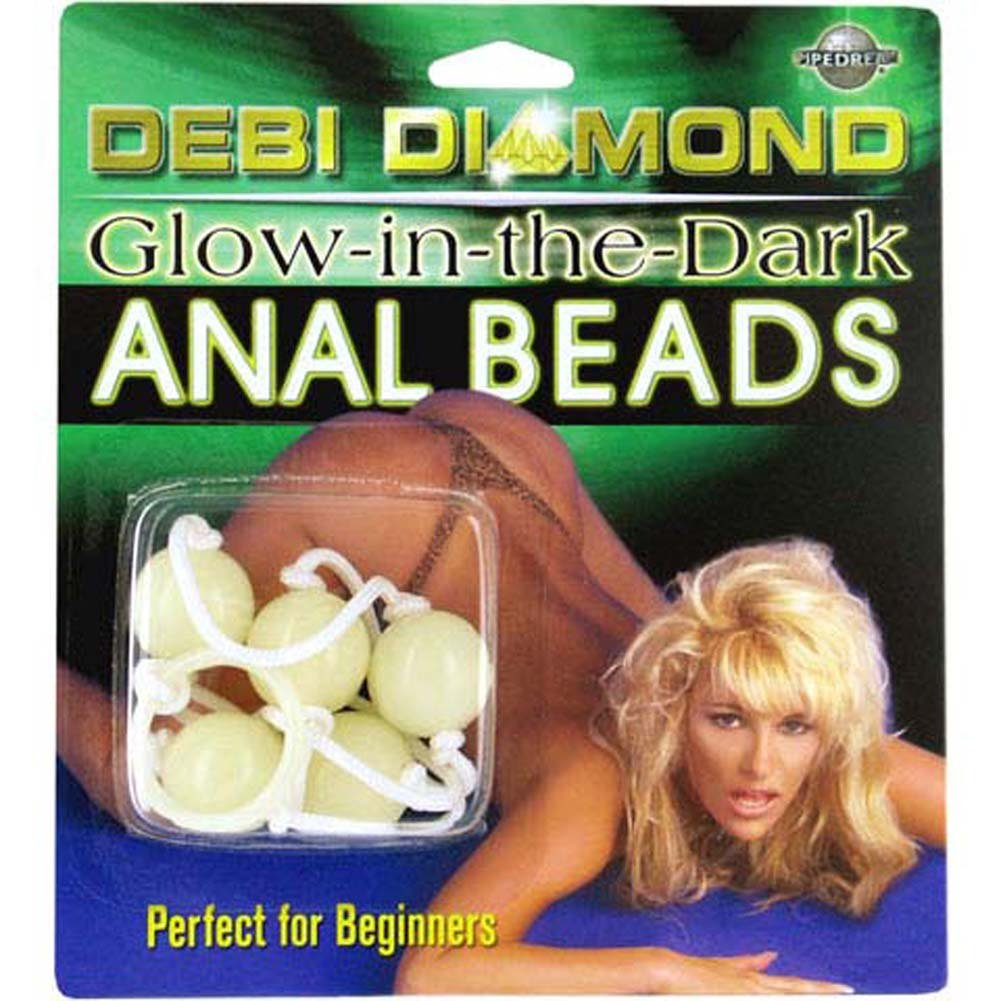 Debi Diamond Glow in the Dark Anal Beads - View #1