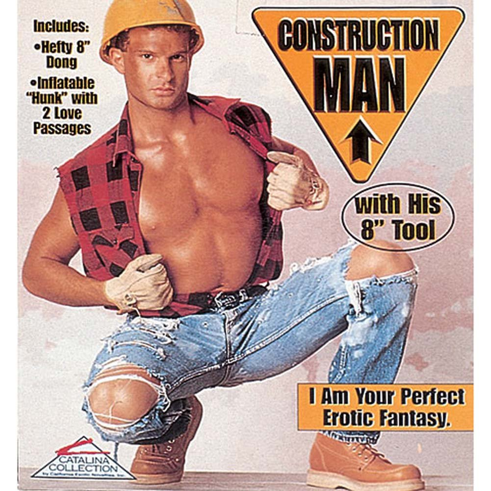 Construction Man Inflatable Doll - View #2