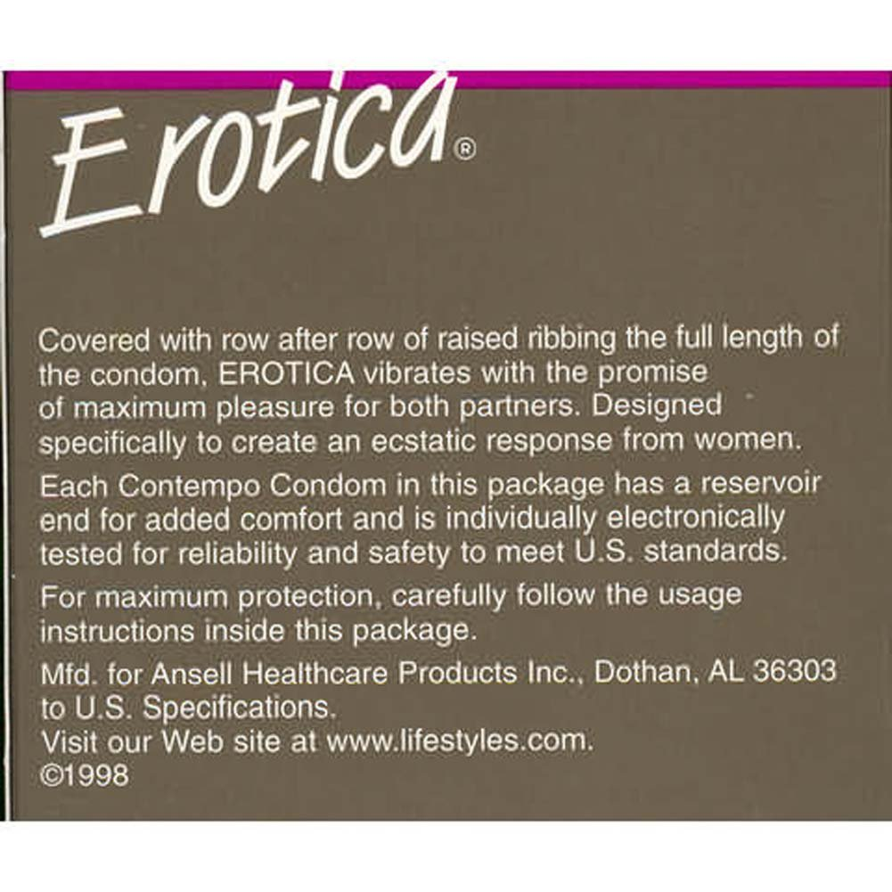 Erotica Condoms 3pk - View #2