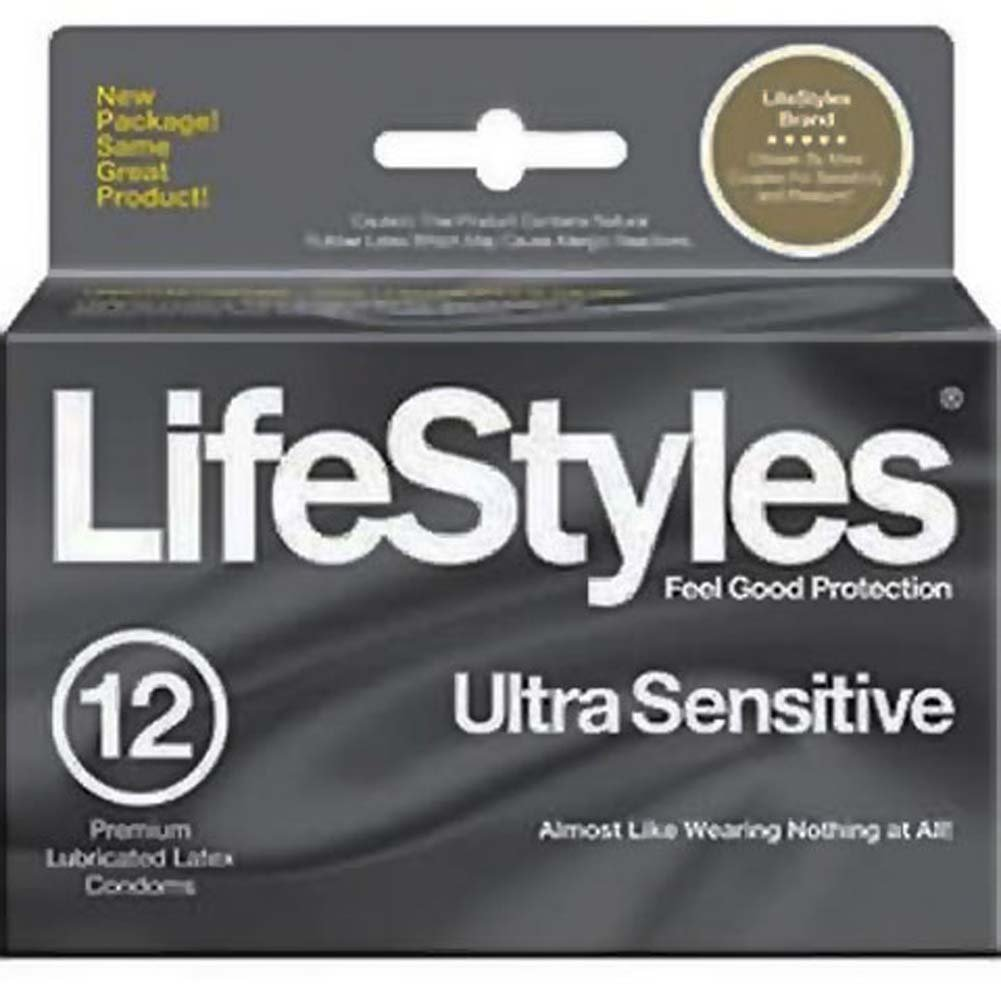 LifeStyles Ultra Sensitive Condom 12 Condoms Pack - View #1