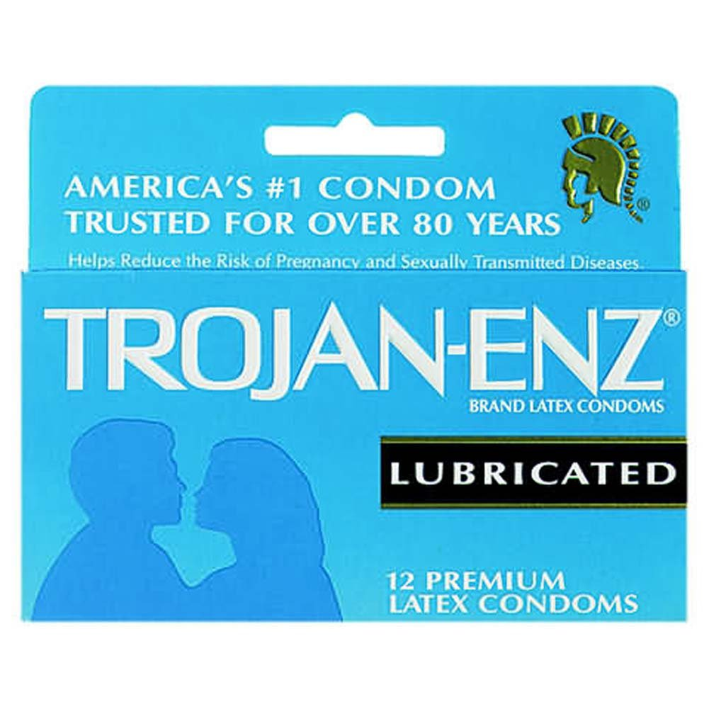 Trojanenz Lubricated Condom 12 Pk - View #1