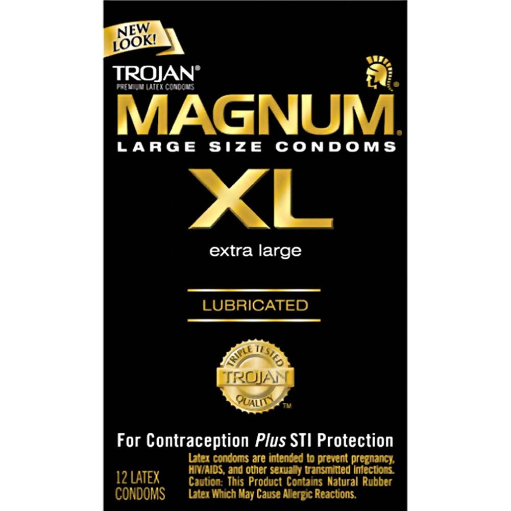 Trojan Magnum Extra Large Latex Lubricated Condoms 12 Pack - View #2