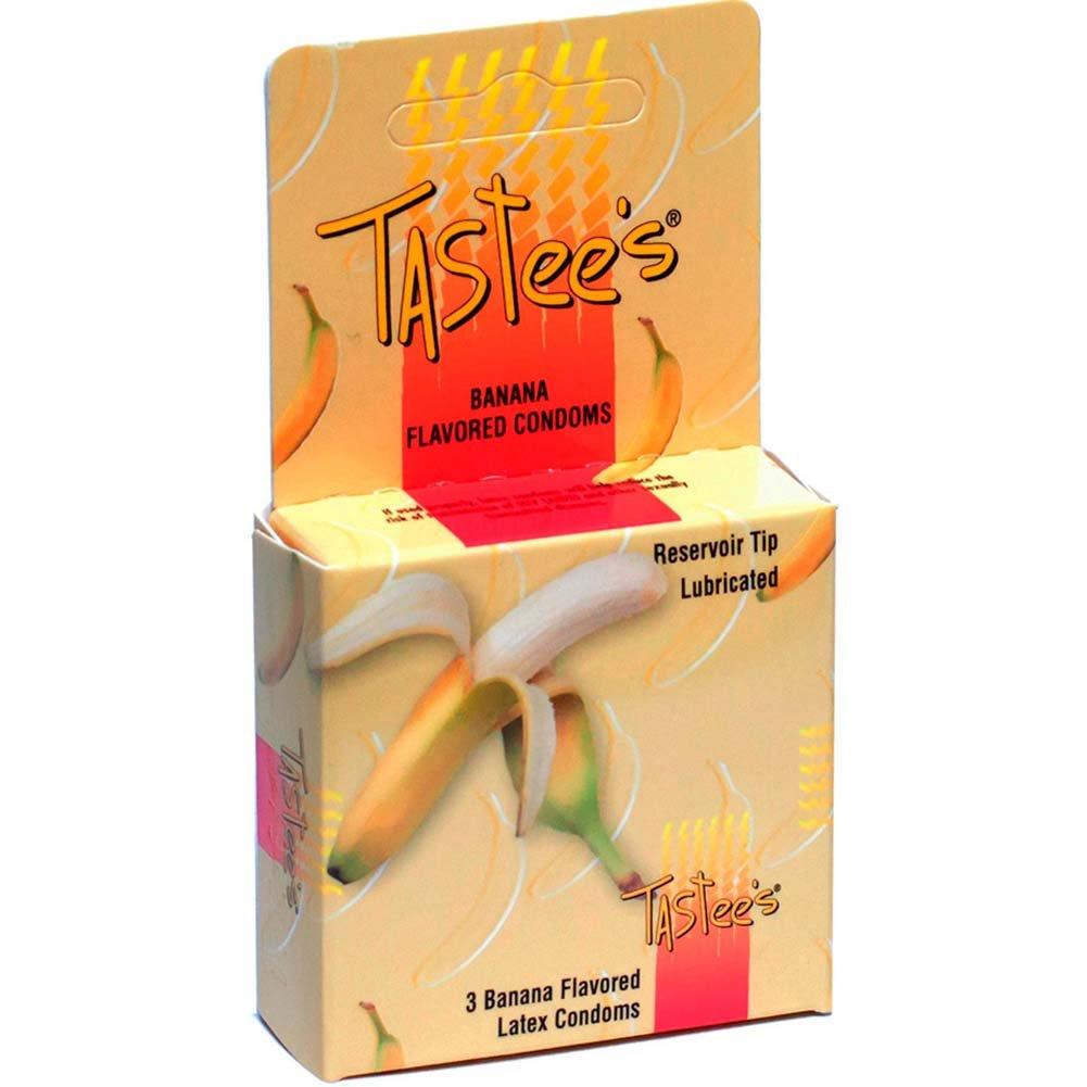 Tastee Flavored Condoms 3pk Banana - View #1
