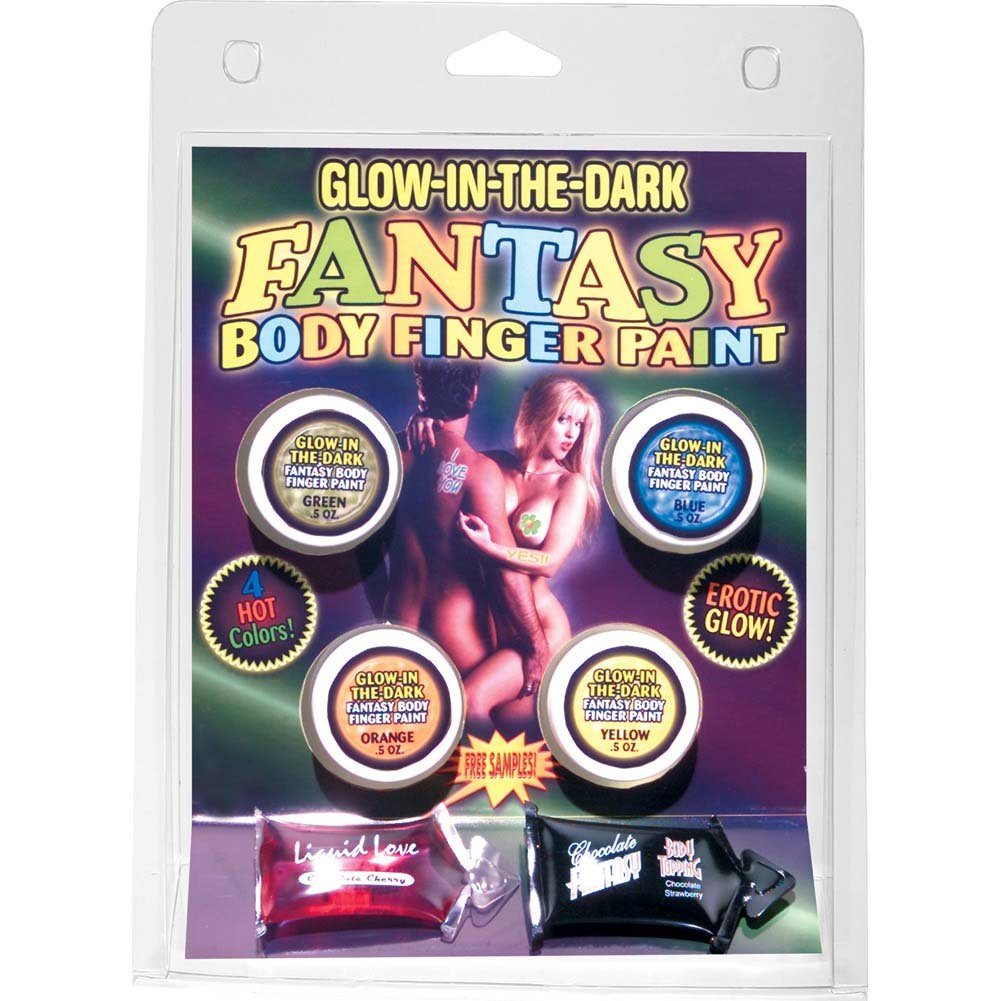 Glow-In-The-Dark Fantasy Body Finger Paint 4 Colors - View #2