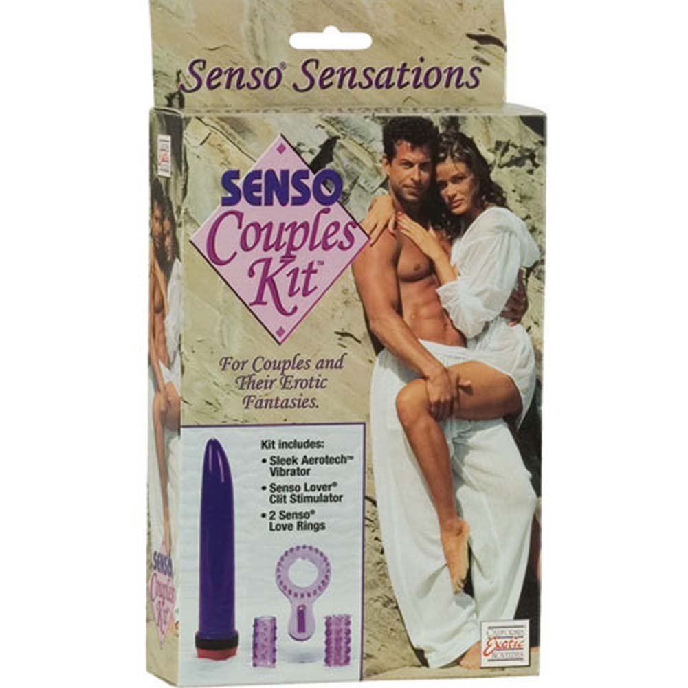 "Senso Couples Kit with 7"" Vibe and Senso Rings - View #2"