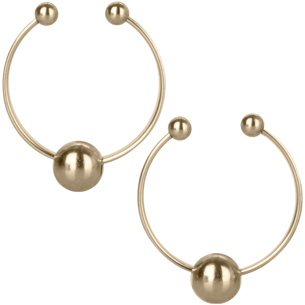 California Exotics Gold Nipple Rings Non Piercing - View #2