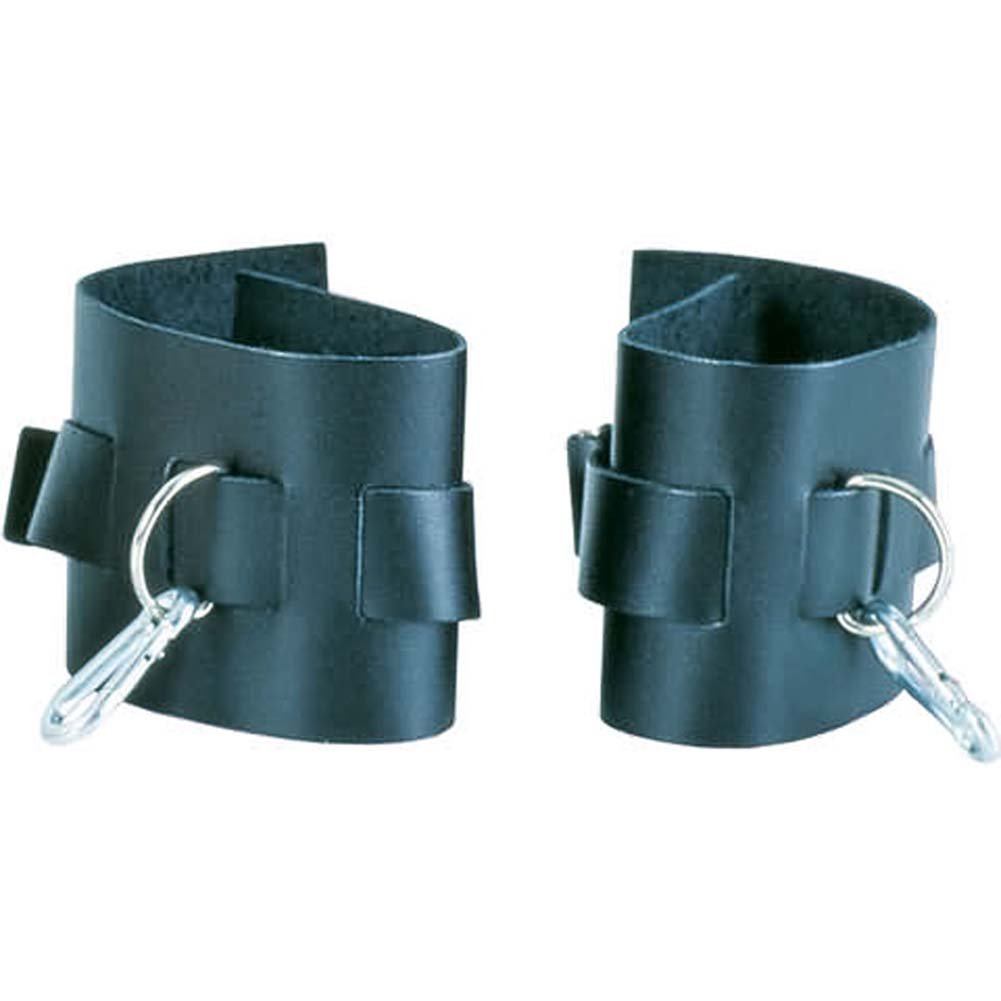 Super Strap Leather Ankle Cuffs - View #2