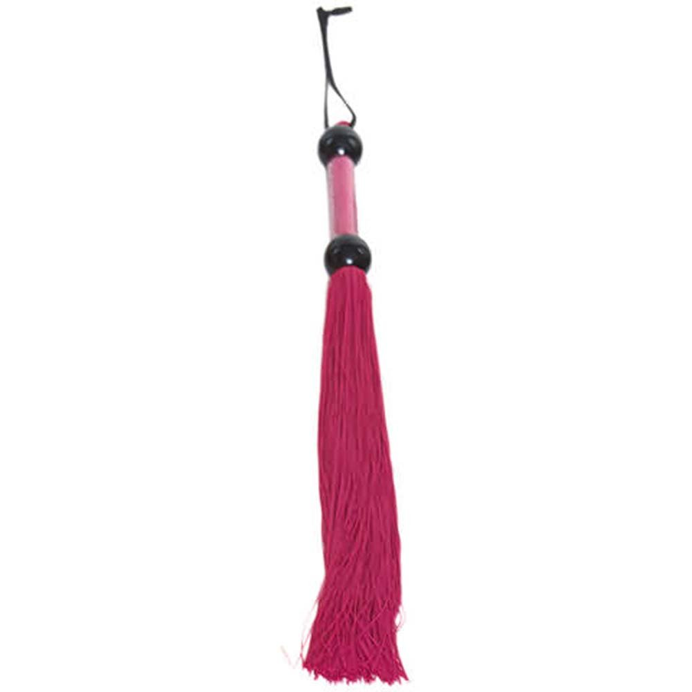 "Magenta Rubber Tickler Whip Large 22"" - View #1"