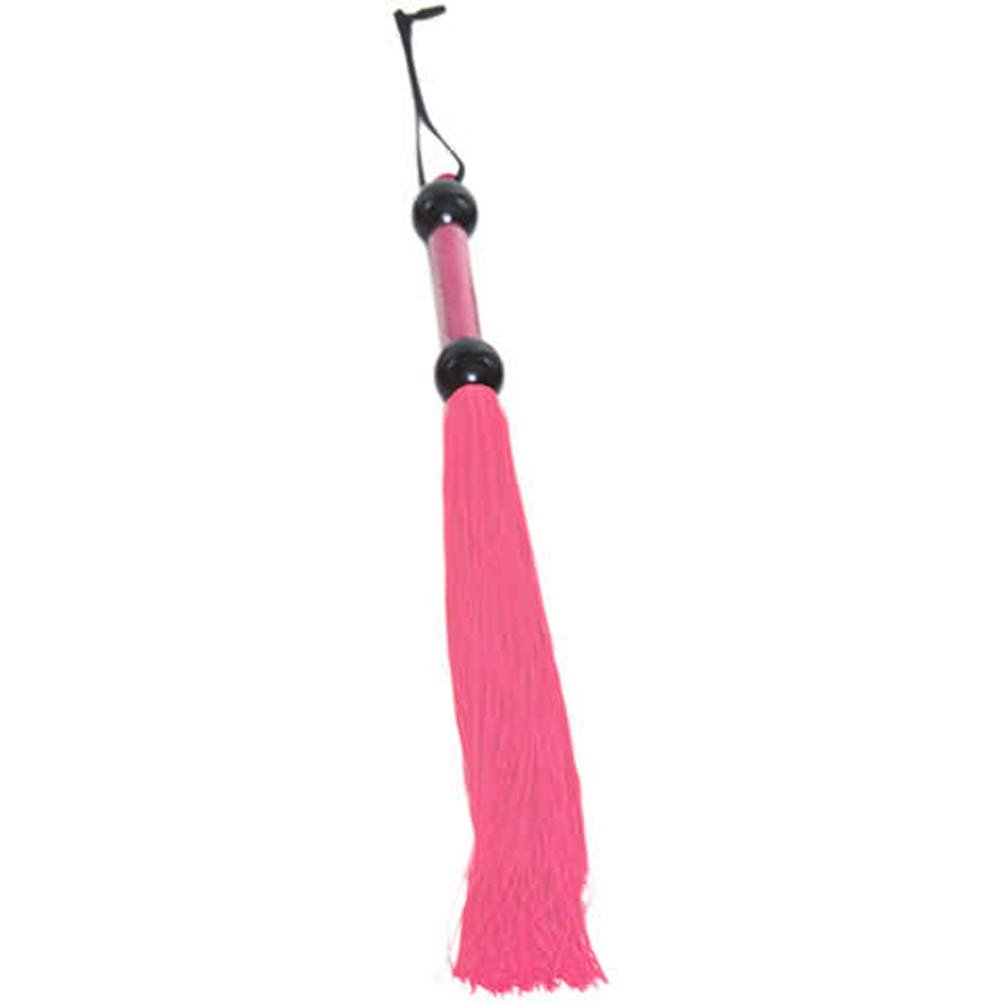 "Glow Pink Rubber Tickler Whip Large 22"" - View #1"