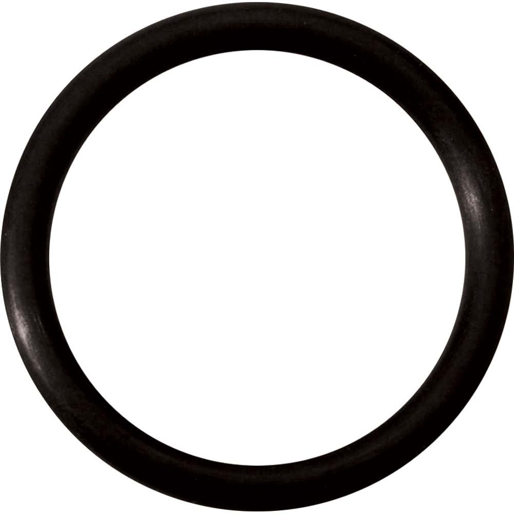 "Spartacus Soft Rubber Cock Ring 1.5"" Black - View #2"