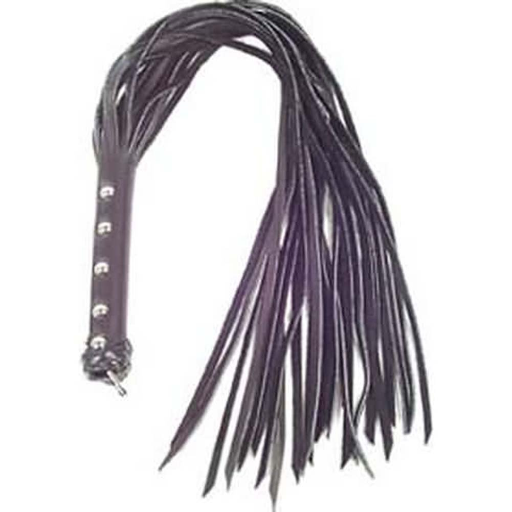 "Spartacus Leather Strap Whip 30"" Purple - View #1"