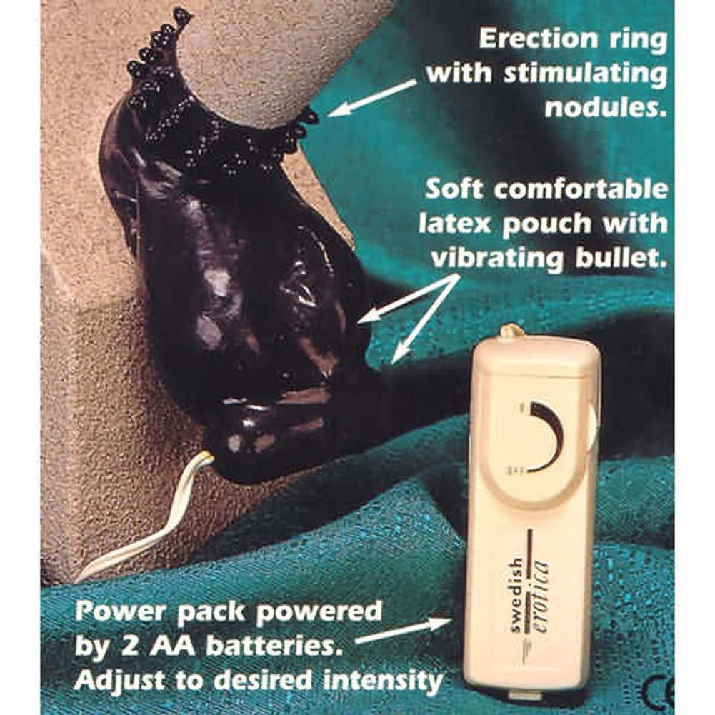 Adonis Pouch Vibrating Male Stimulator Black - View #2