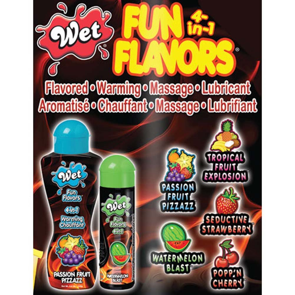 Wet Fun Flavors 4-in-1 Flavored Warming Massage Lubricant 8.6 Fl. Oz. 254 mL Watermelon - View #2