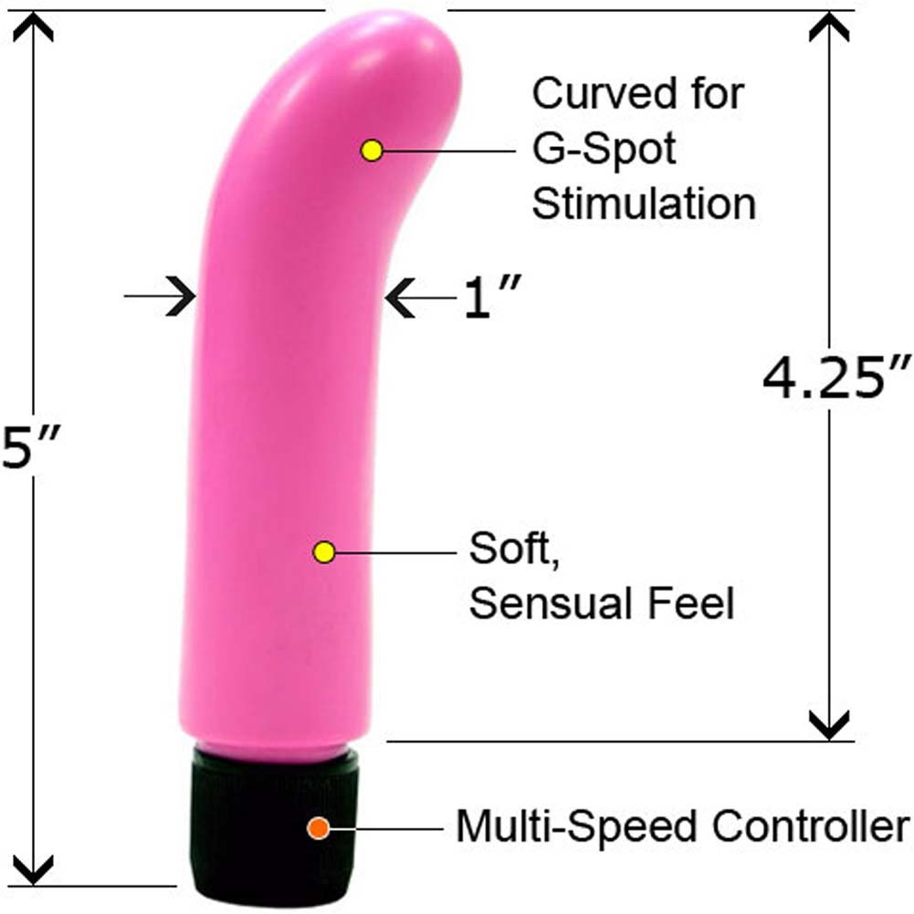"Little Softie G-Spot Vibrator 5"" Pink - View #1"