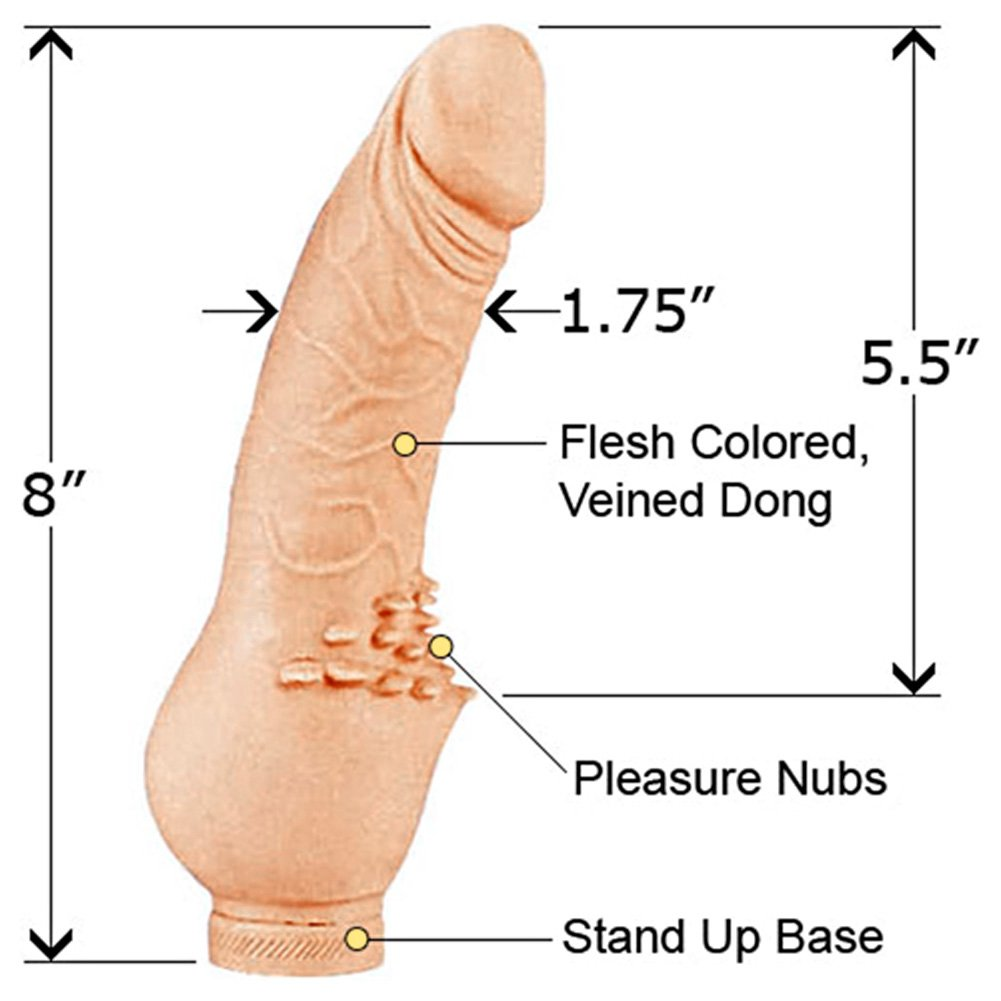 """California Exotics SoftSkins Clit Stimulator Dong 8"""" Natural - View #1"""