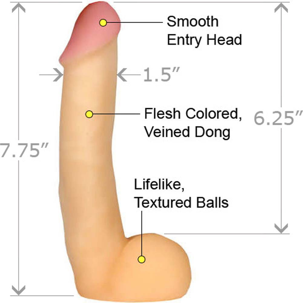 "CyberSkin Cyber Cock with Balls 7.75"" Natural - View #1"