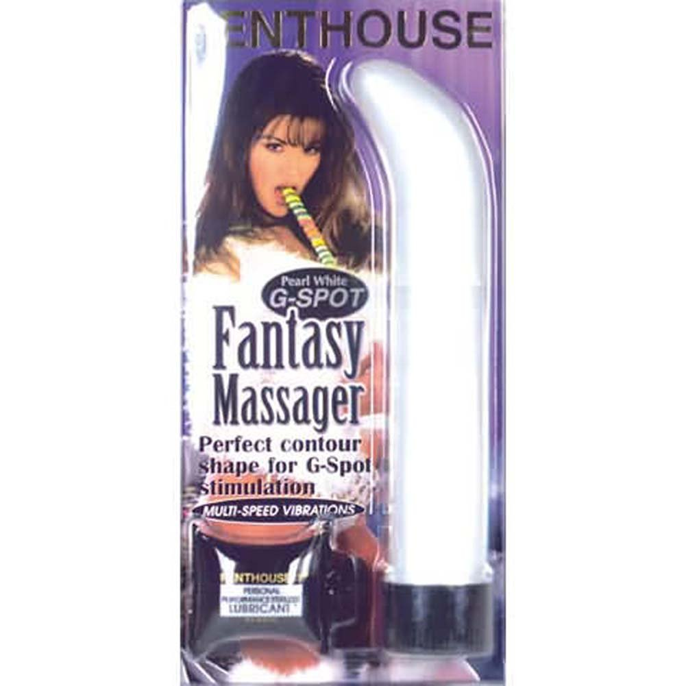 G-Spot Fantasy Massager Pearl White - View #1