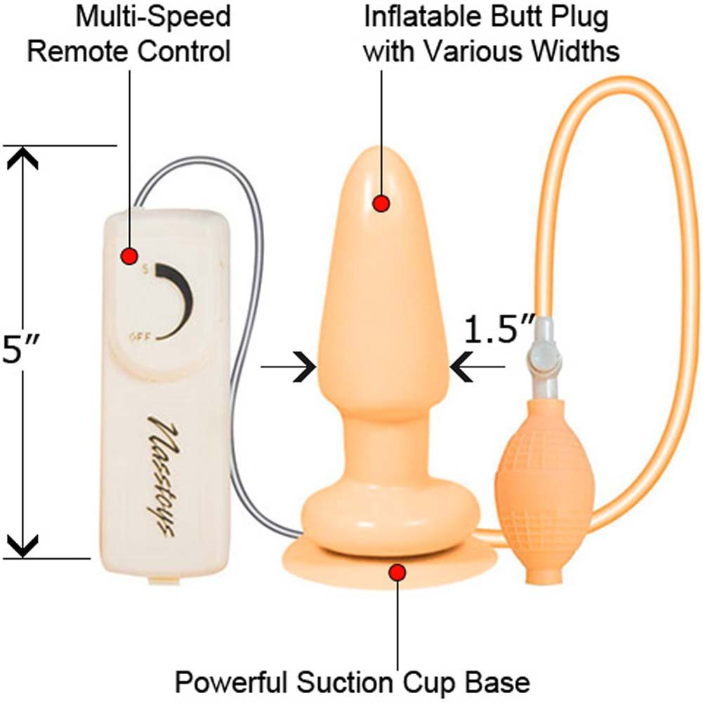 Butt Balloon Vibrating Inflatable Butt Plug - View #1