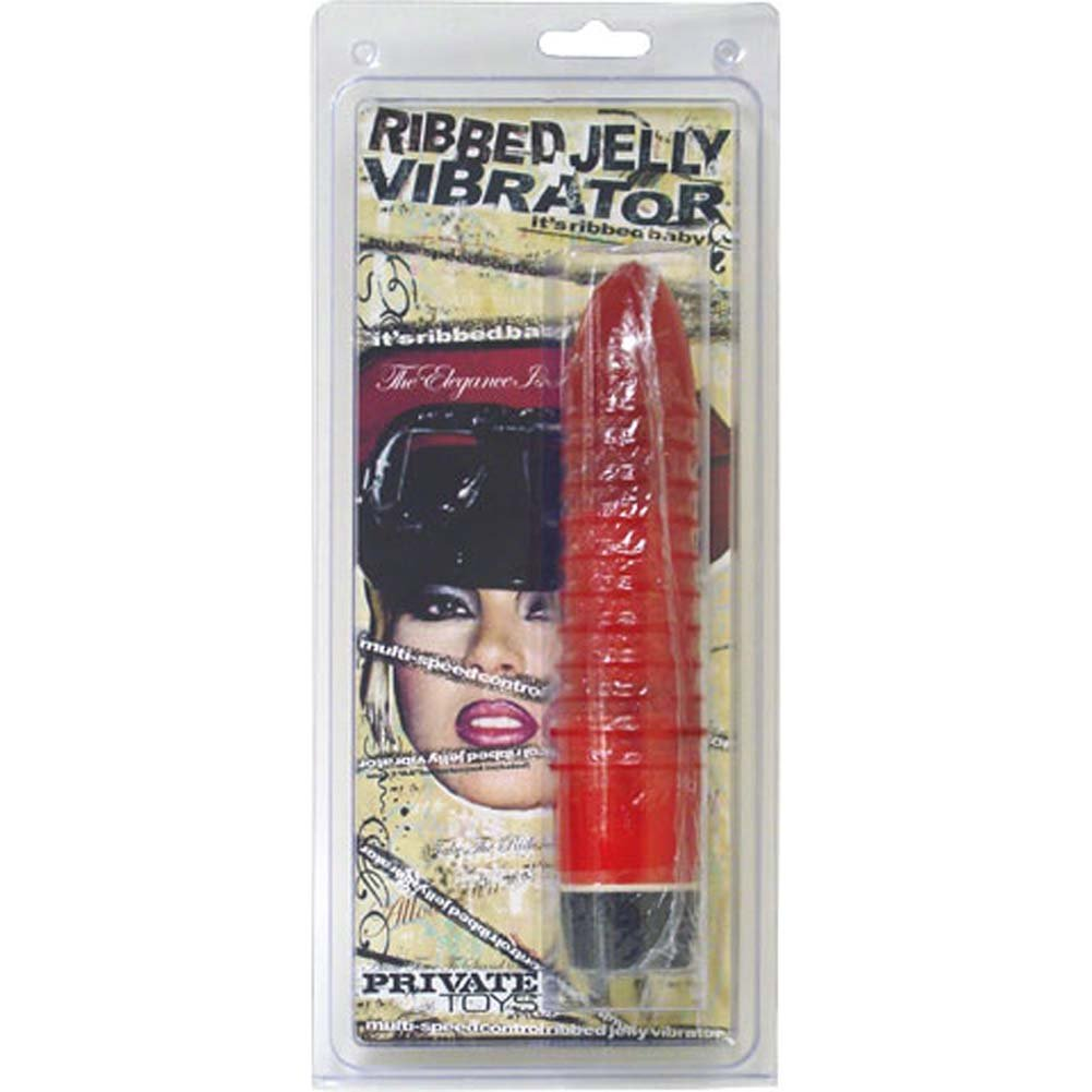 Ribbed Jelly Vibrator 7.5 In. - View #1