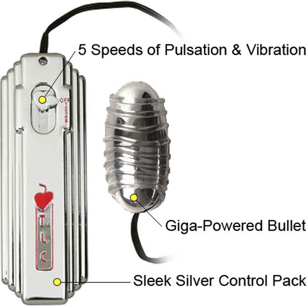 5X Space Explorer Giga Powered Love Bullet Vibrator Silver - View #1