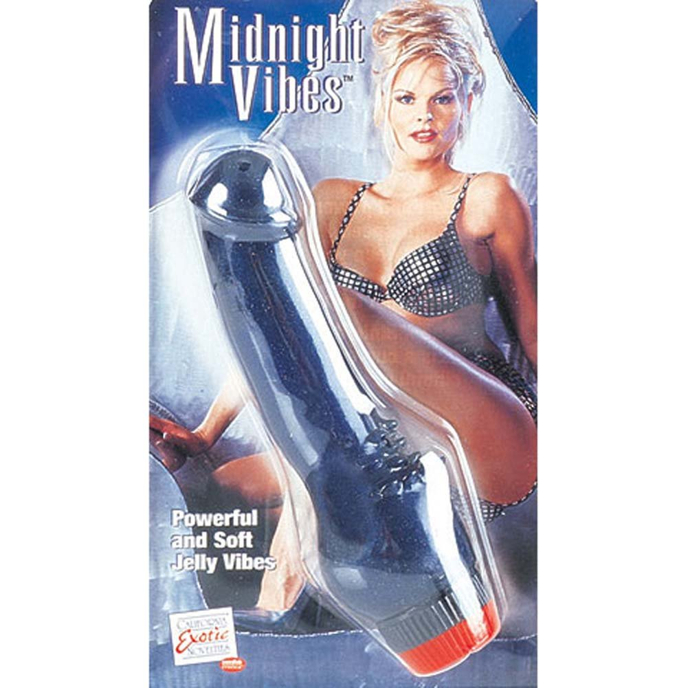 "Midnight Cliterrific Jelly Vibrator 7.25"" - View #2"