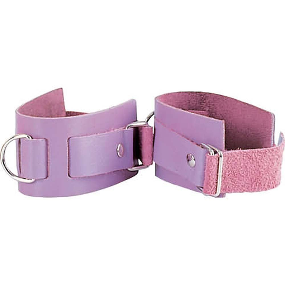 Lavender Leather Wrist Cuffs - View #2