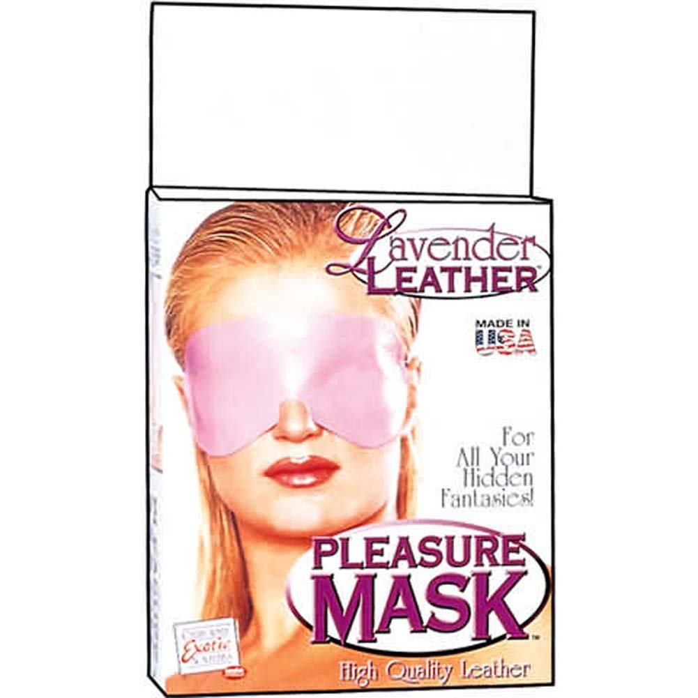 Lavender Leather Pleasure Mask - View #1