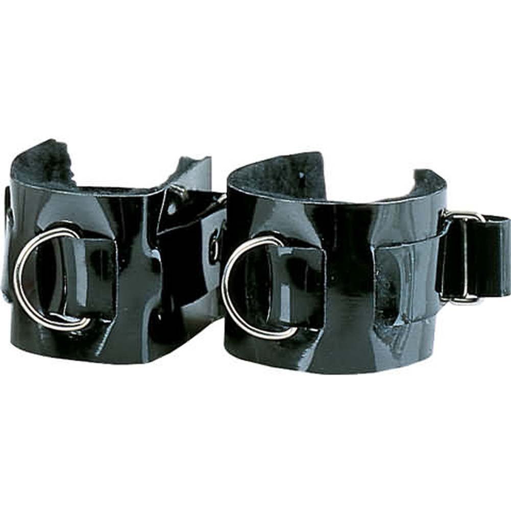 Wrist Cuffs Patent Leather Passion Restraints - View #2