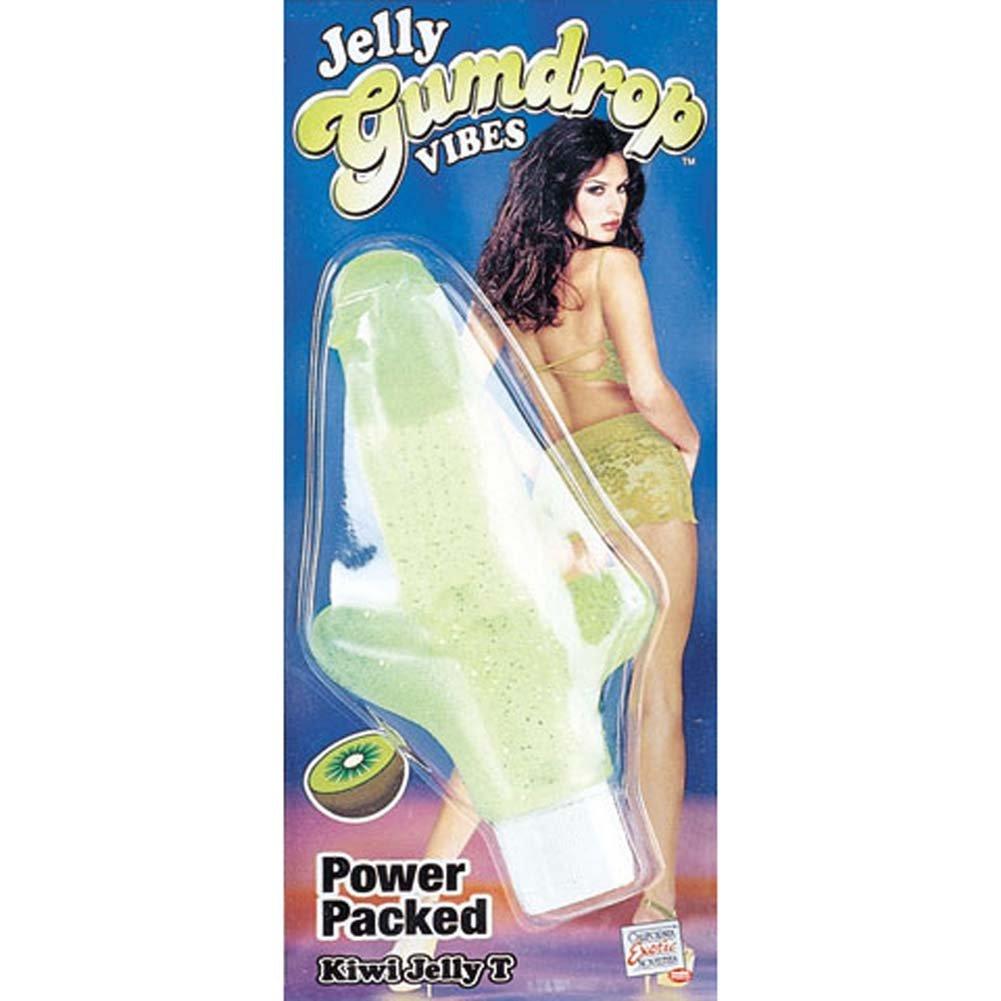 Jelly Gumdrop Kiwi T Vibrator 6 In. - View #1