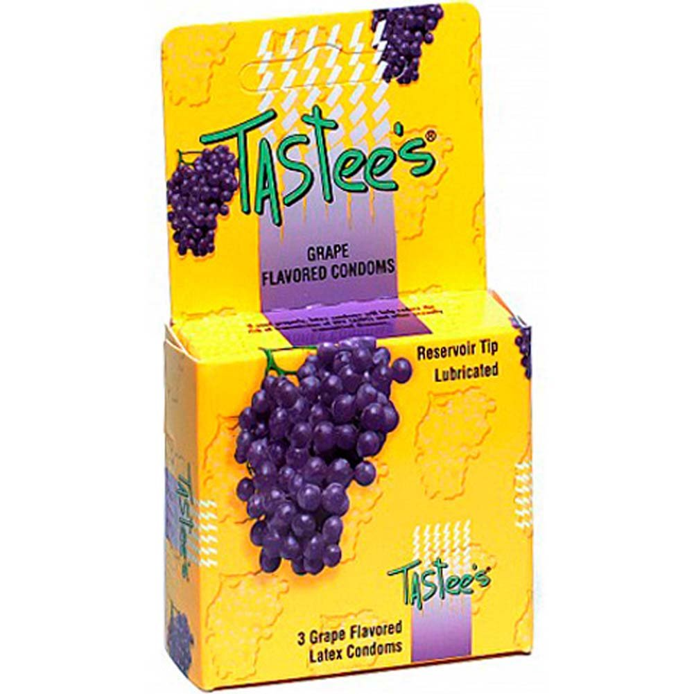 Tastee Flavored Condoms Grape Pack of 3 - View #1