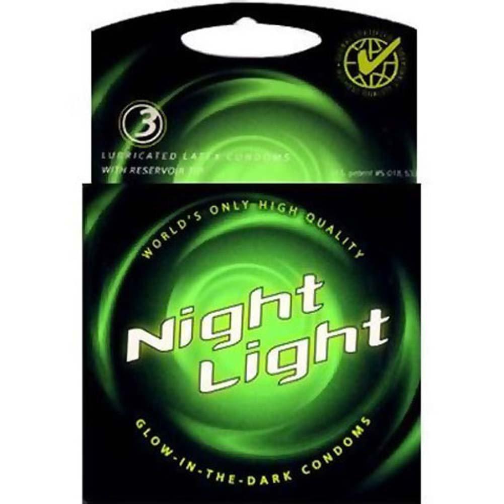 Night Light Glow Condoms 3 Pack - View #1