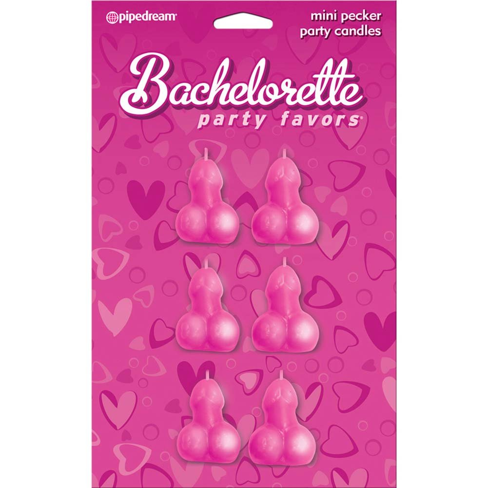 Bachelorette Party Favors Mini Pecker Party Candles 6 Pieces - View #1