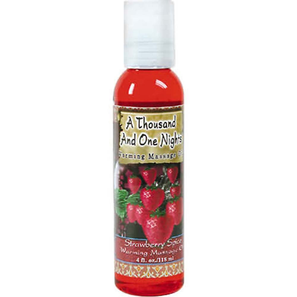1001 Nights Massage Oil Strawberry Spice 4 Fl. Oz - View #2