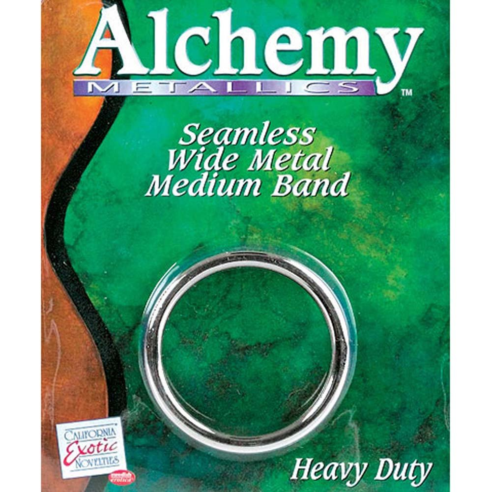 "Alchemy Metallics Seamless Medium Metal Band Cock Ring 1.75"" Silver - View #1"