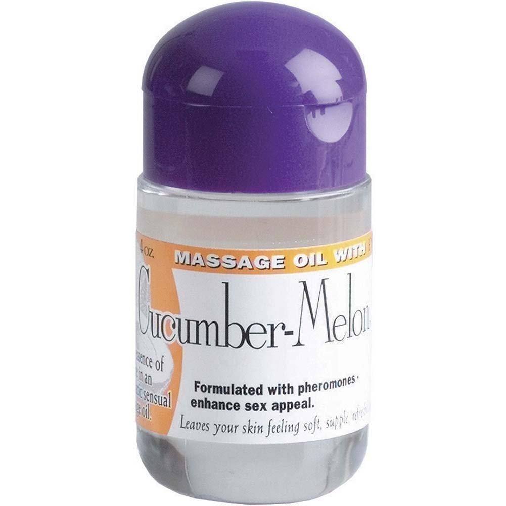 Cucumber Melon Pheromones Massage Oil 4oz. - View #1