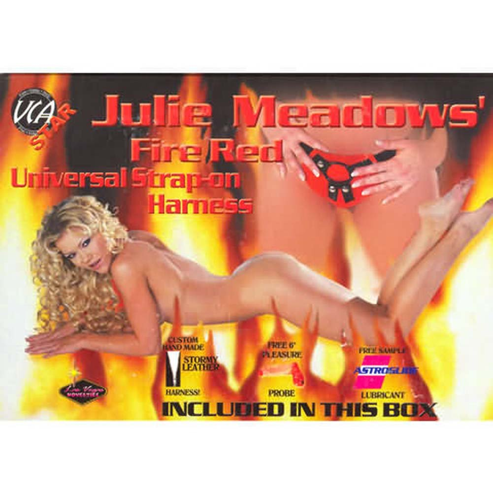 Julie Meadow Fire Red Universal Strap-On Harness Kit - View #1
