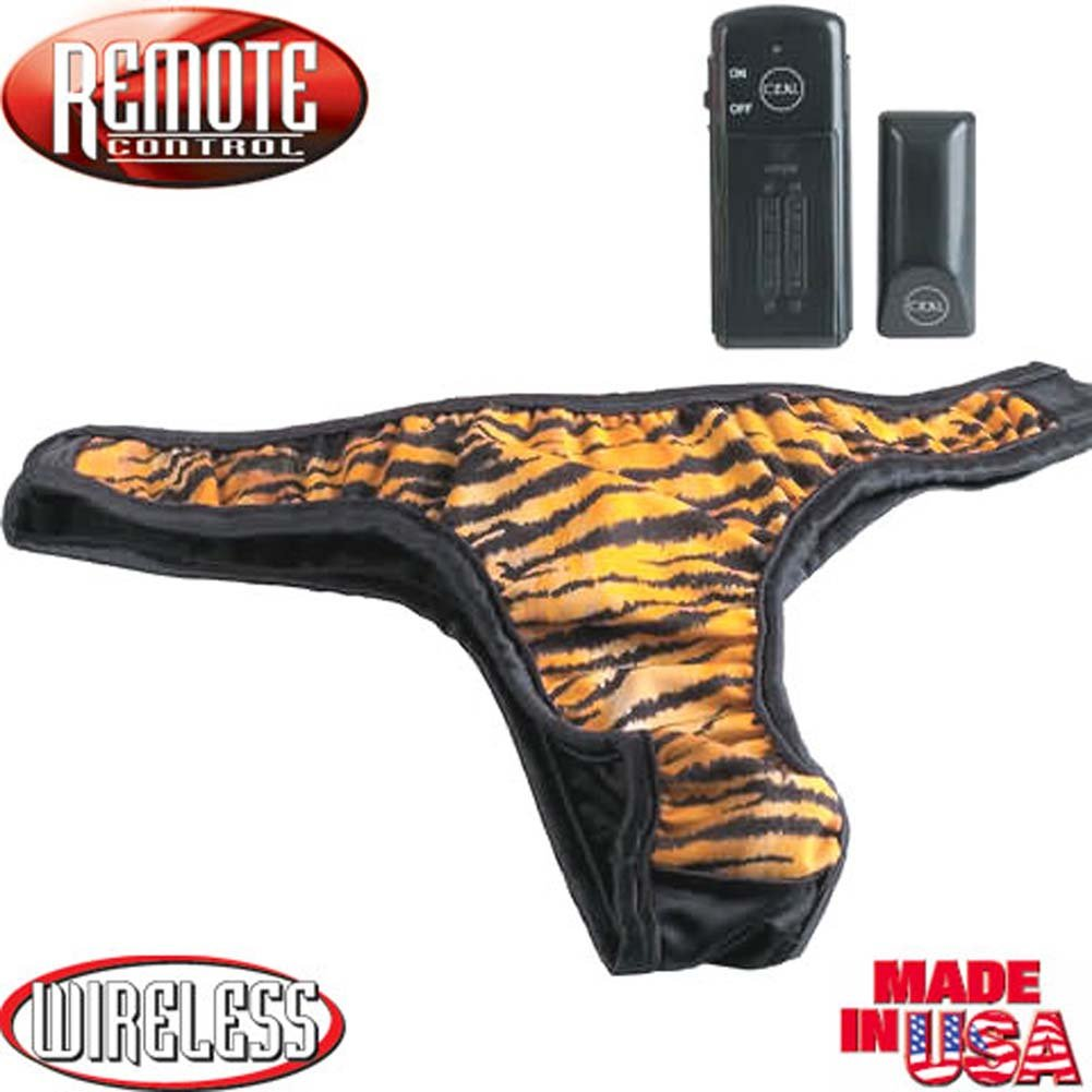 Wild Exotics Remote Control Tiger Vibrating Panties. - View #4