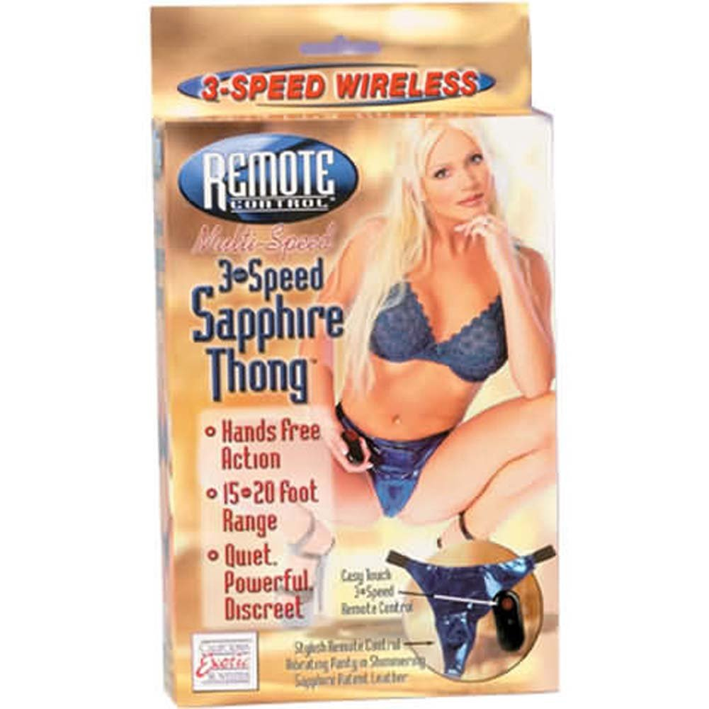 Remote Control 3 Speed Sapphire Thong. - View #1