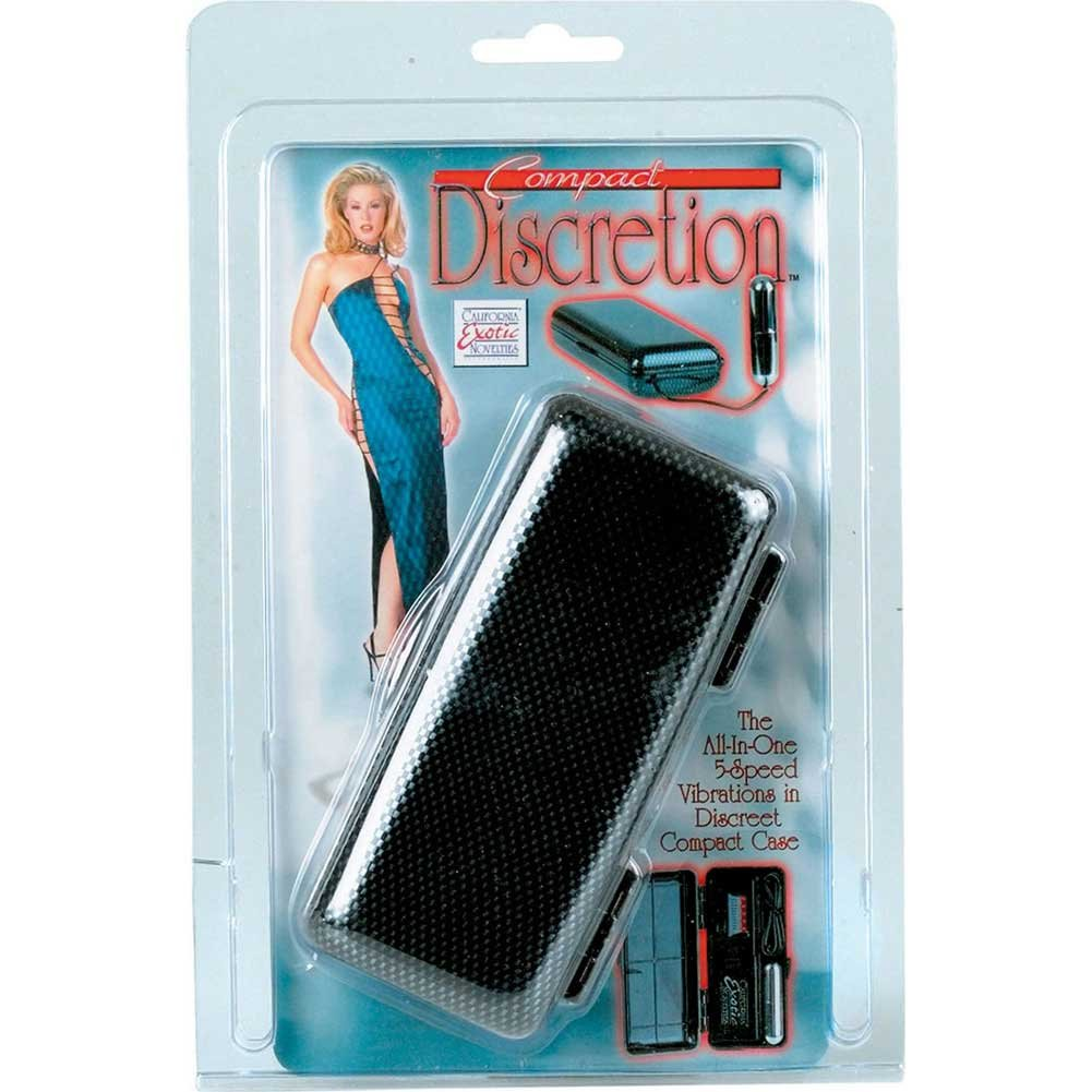 California Exotics Compact Discretion Vibrating Bullet Massager with Carbon Fiber Case - View #1