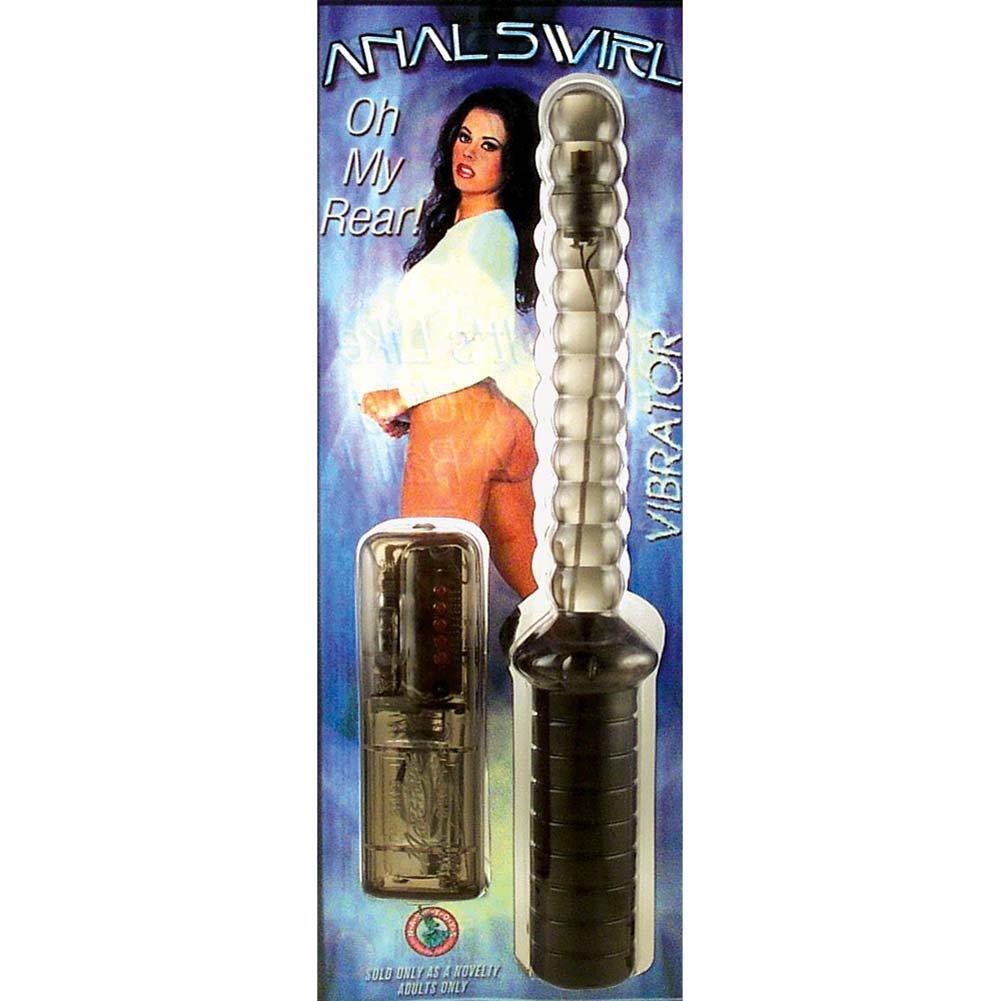 "Variable Speed Vibrating Anal Swirl Pleasure Baton 10"" Smoke - View #1"