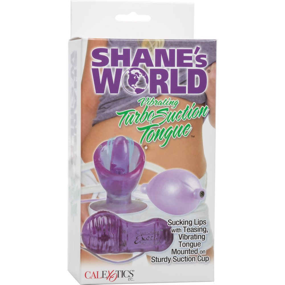 California Exotics ShaneS World Vibrating Turbo Suction Tongue with Hand Pump Purple - View #4
