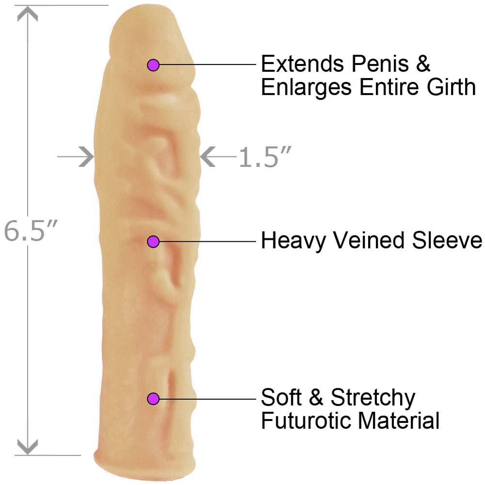 "Futurotic Natural Feel Penis Extension 6.5"" Natural Flesh - View #1"