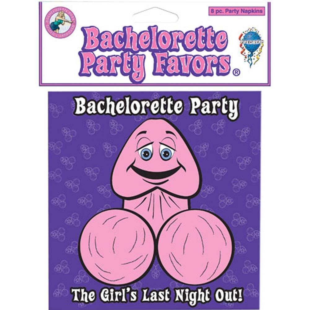 Bachelorette Party Favors Napkins 8 Pc. - View #1