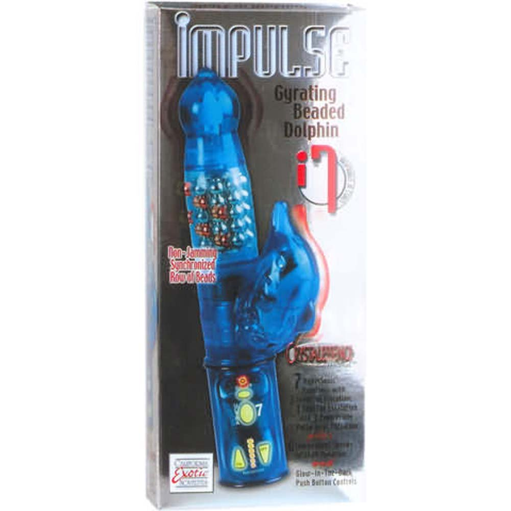 Impulse Gyrating Beaded Dolphin Crystalessence Vibe 9.5 In. - View #1