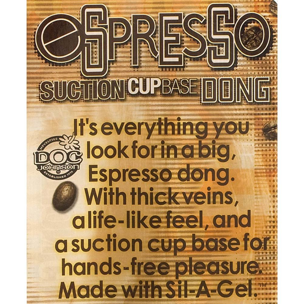 """Espresso Line Dong with Suction Cup 9"""" Ebony - View #3"""