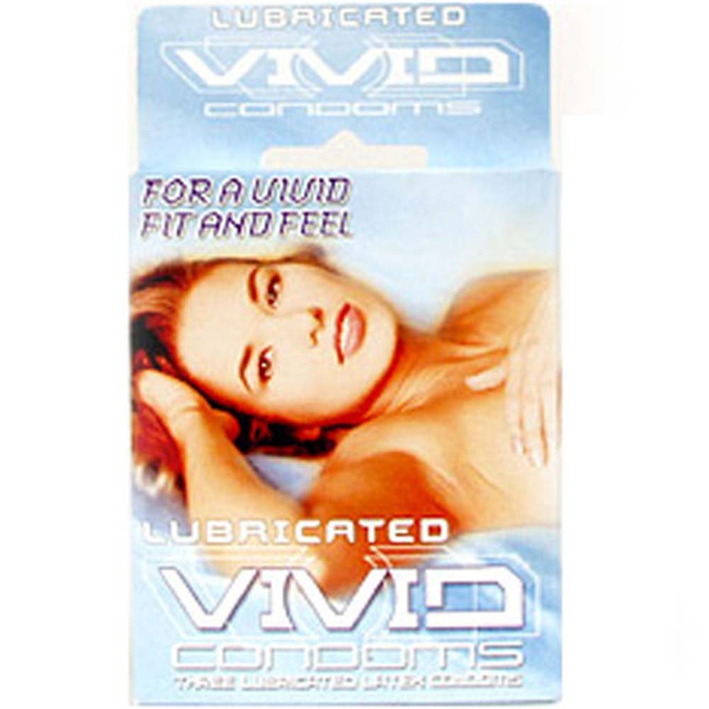 Vivid Lubricated Condom 3 Pack - View #1