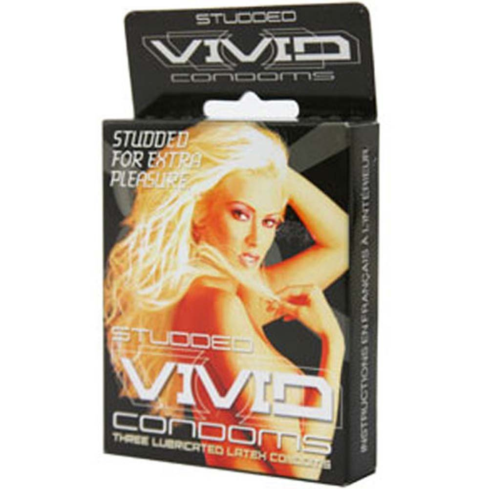 Vivid Studded Condom 3 Pack - View #1