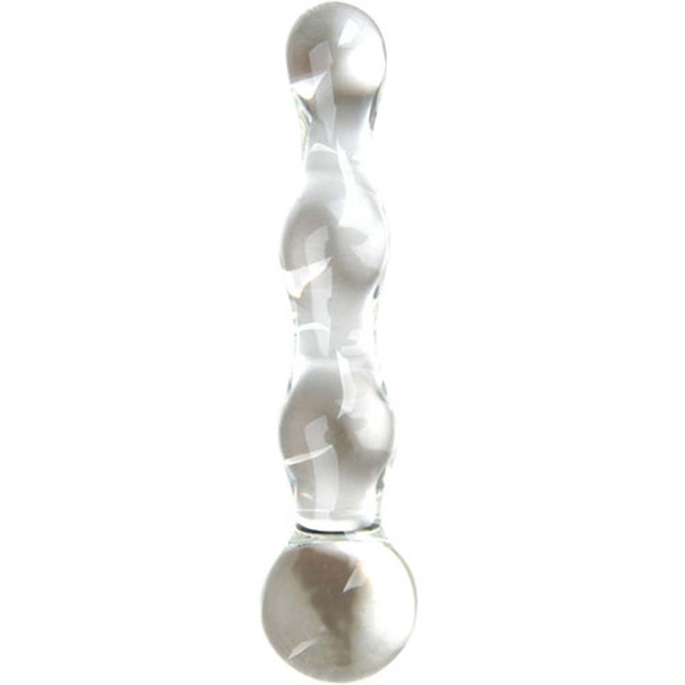 Adam and Eve Pure Pleasure Glass Dildo with Storage Bag 7 In - View #1